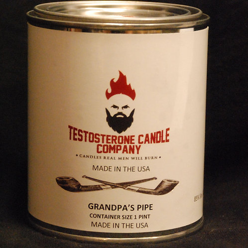 Grandpa's Pipe Pint Size Candle