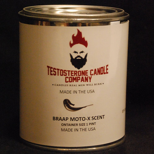 Braaap! Moto Motocross Castor Oil, Race Gas & Dirt scented candle with wood wick