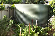 measured irrigation from a rainwater tank