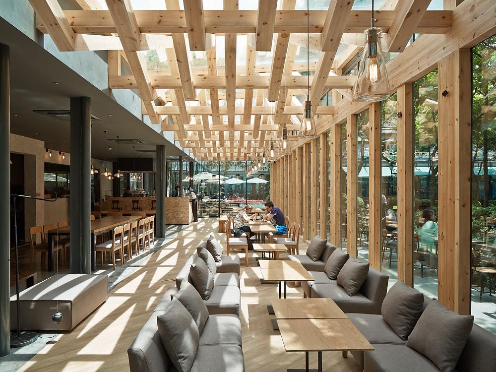Kooo Architect adds wooden lattice