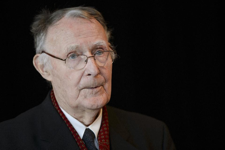 Ikea founder Ingvar Kamprad, pictured on December 3, 2012, has been described as an obsessive penny-pincher despite being one of the world's richest people (AFP Photo/Fabrice Coffrini)