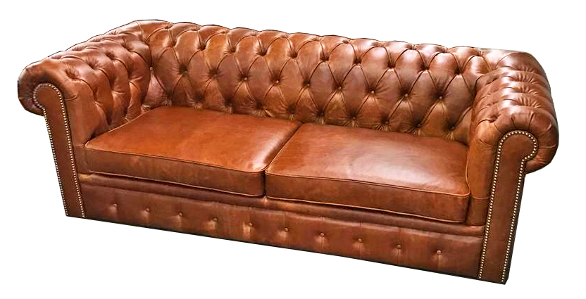 Full Leather Chesterfield Sofa