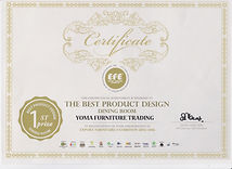 Porani Penang Malaysia 1st Prize Best Product Design (Dining Room) - Porani ( Yoma Furniture Trading )
