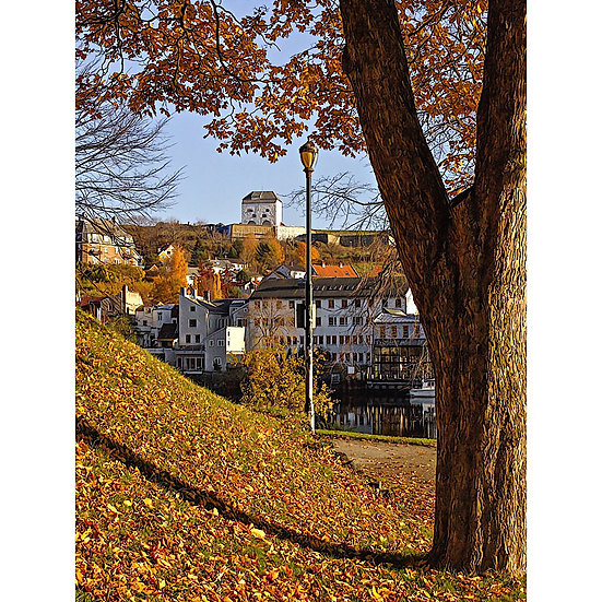 Høstutsikt mot Kristiansten Festning – Trondheim, NORWAY