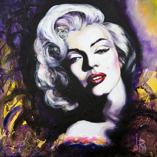 «Marilyn Monroe»-akryl på lerret 90x90cm