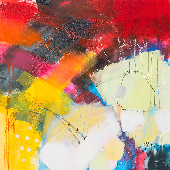 «Untitled-47»-akryl på lerret 50x50cm