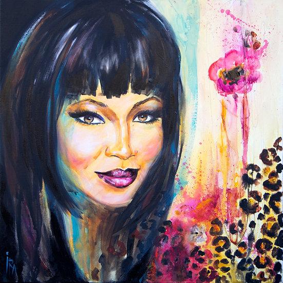 «Naomi Campbell»-akryl på lerret 70x70cm