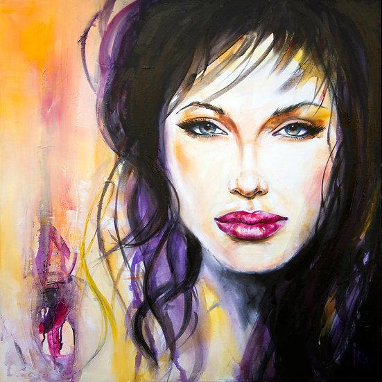 «Angelina Jolie» – kunsttrykk - giclée