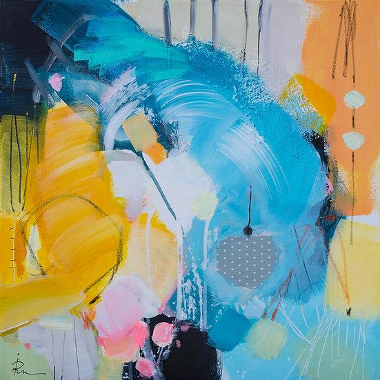 «Untitled-49»-akryl på lerret 50x50cm