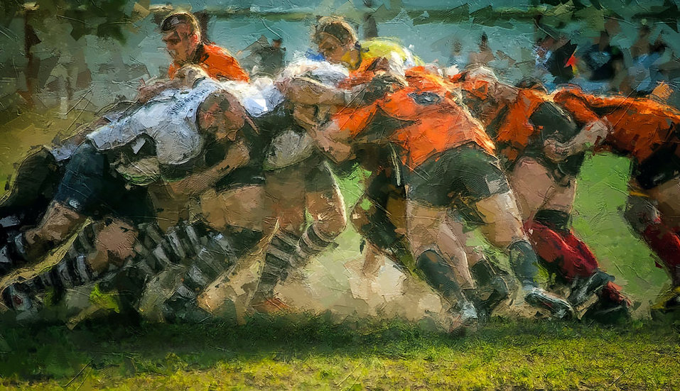 «Men play rugby» – price from