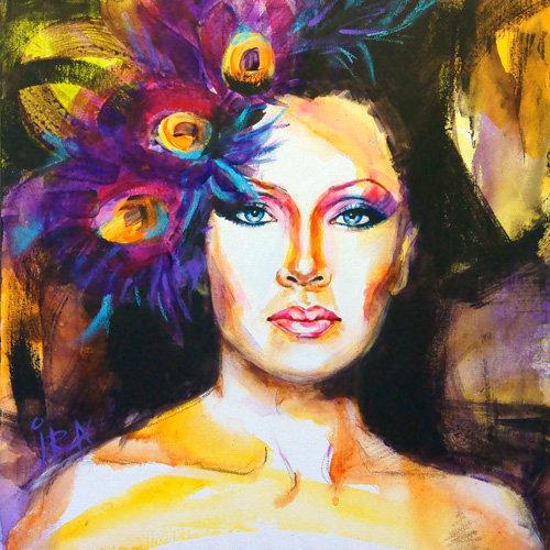 «Vanessa Williams» – kunsttrykk - giclée