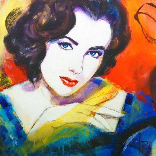 «Liz Taylor» – kunsttrykk - giclée