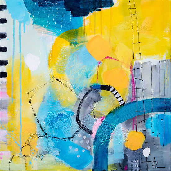 «Untitled-41»-akryl på lerret 50x50cm