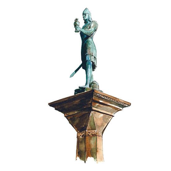 Torget, Trondheim, skulpturen av Olav Tryggvason