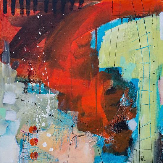 «Untitled-40»-akryl på lerret 50x50cm