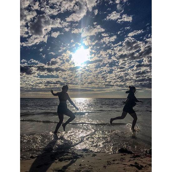 God Time on Adelaide beach - South Australia