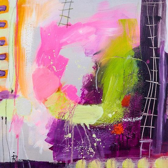 «Untitled-37»-akryl på lerret 50x50cm