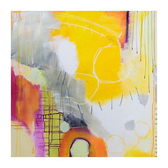 «Yellow Sunshine» – kunsttrykk - giclée