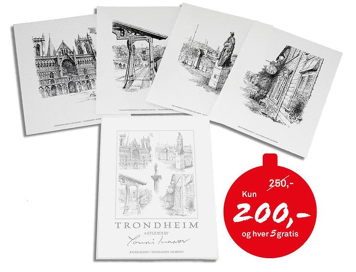 Kunstmappe «Trondheim» med 4 motiver