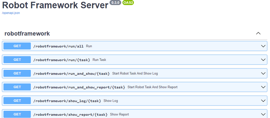 Robot Framework as WebService