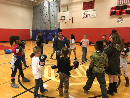 Boxfit at the Boys and Girls Club