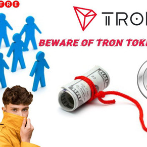 BEWARE OF TRON TOKEN SCAMS!! MUST SEE! DEFI SCAM!