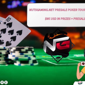 NUTS GAMING POKER + CRYPTO! PRESALE TOURNEMENT JULY 28TH!