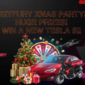 BETFURY XMAS PARTY! WIN A NEW TESLA S! HUGE $ PRIZES!