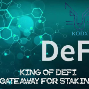KING OF DEFI! A GATEWAY FOR STAKING !