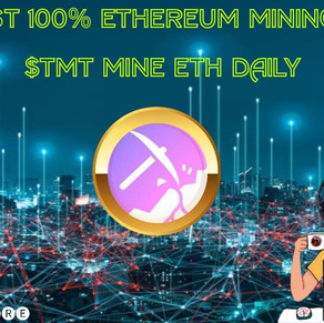 THE FIRST 100% ETHEREUM MINING TOKEN $TMT MINE ETH DAILY!