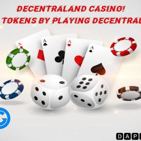 DECENTRALAND CASINO? DECENTRAL GAMES MINE DG TOKENS!