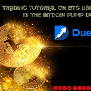 TRADING TUTORIAL ON BTC USING DUEDEX! IS THE BITCOIN PUMP OVER?
