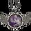 Thumbnail: 30mm Circle Wing Necklace