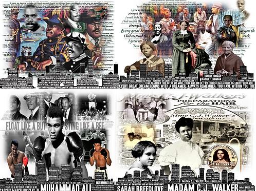 4 Photo Black History Word Bundle