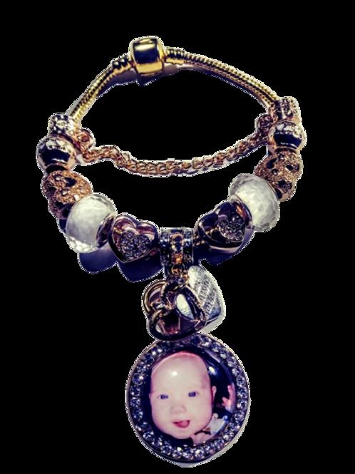 Gold Pandora Photo Bracelet