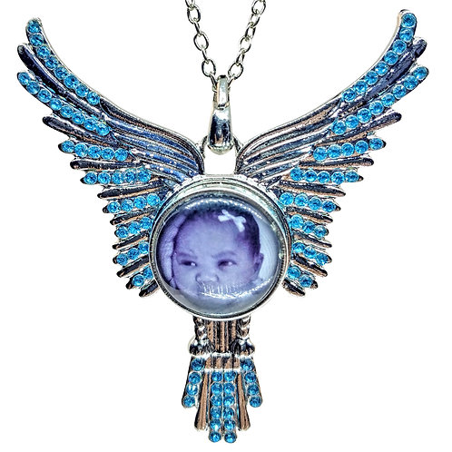 Crystal Angel Snap Necklace