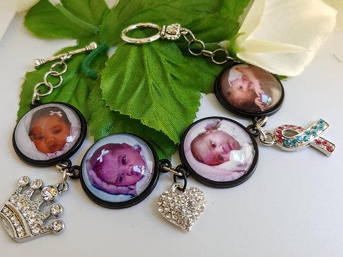 4 Photo Charm Bracelet