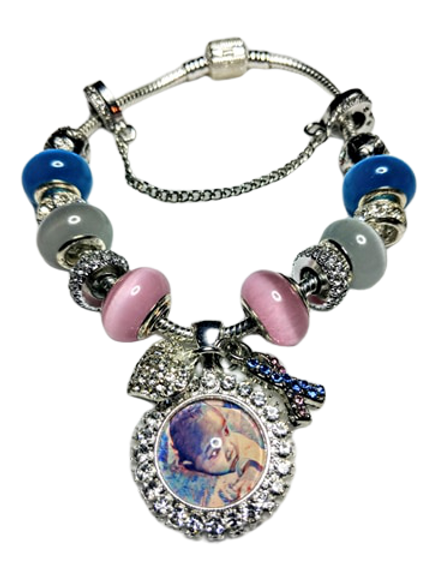 Infant Loss Awareness Photo Pandora Bracelet