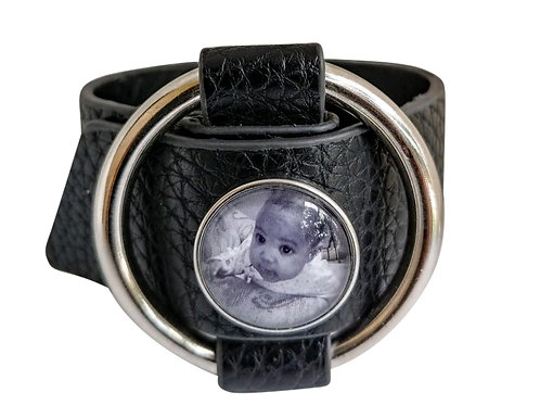 Buckle Leather Photo Band