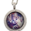 Thumbnail: 30mm Double Layer Circle Photo Necklace with Crystal Bail