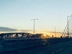 As the Sun Sets: at the Ending of this First Champlain Bridge