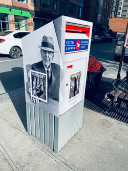 Mailbox Tribute to Leonard Cohen