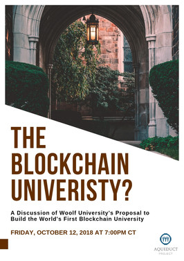 The Blockchain University?