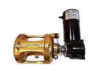 Electric fishing reel motor attached to a Penn International 50 VW.jpg