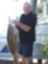 Electric fishing reel caught this 38lb Grouper