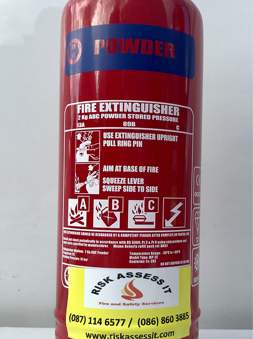 2Kg ABC  Powder Fire Extinughisher