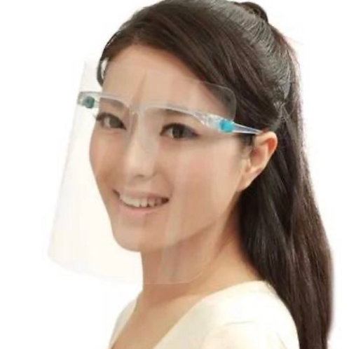 Personal Face Shield Protection on a Glasses Frame