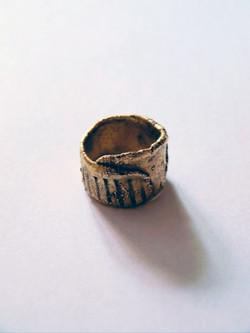 Gold plaited ring