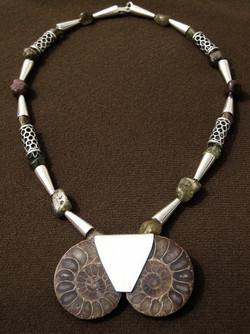 Ammonite pair necklace