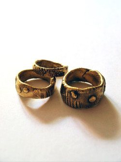 Gold plaited rings